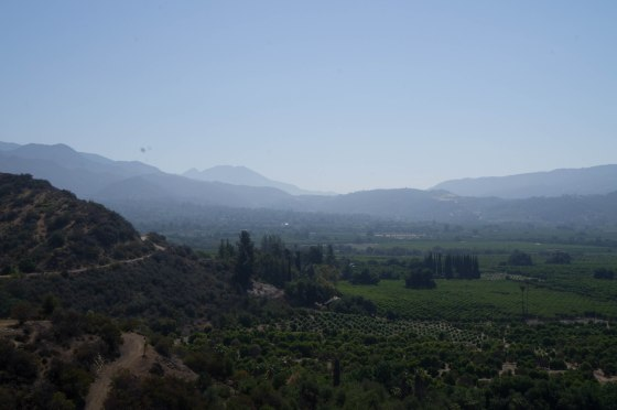 View of the trail and the valley